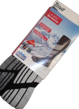 Женские лыжные зональные высокие носки гольфы шерстяные бренд crivit германия р. 37-42