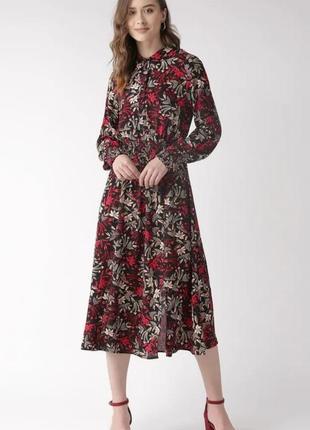 Обалденное женственное платье-рубашка миди, из вискозы