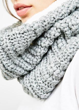 Новый тёплый шарф снуд bershka