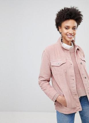 Вельветовая куртка пиджак пудрового цвета denim co