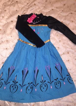 Платье анна холодное сердце 120рост