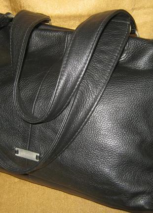 Hidesign большая черная кожаная сумка мягкая и легкая натуральная кожа без дефектов