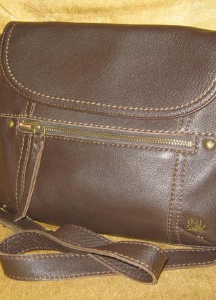 The sak компактная кожаная сумка кроссбоди в отличном состоянии натуральная кожа