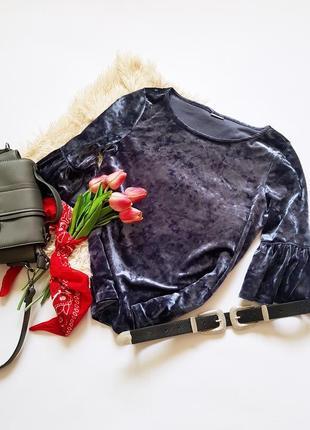 Трендова велюрова блуза від jacqueline de yong