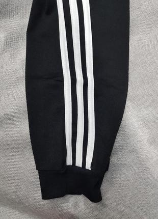 Спортивные штаны adidas чёрные зауженные унисекс брюки5 фото