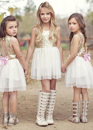 12-34 нарядное красивое детское платье на выпускной праздник утренник фотосессию
