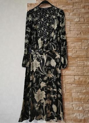 Шикарный костюм, юбка миди +блузка, из вискозы