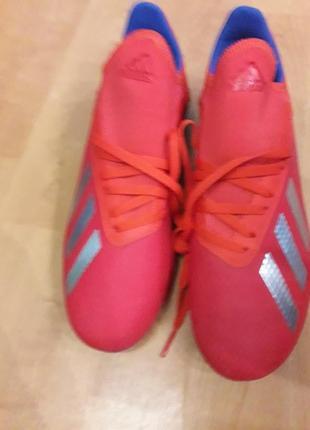 Футбольные бутсы детские adidas jr x 18.3 fg bb9371