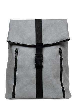 Женская серая сумка для учебы2 фото
