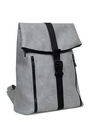 Женская серая сумка для учебы3 фото
