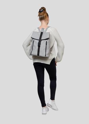 Женская серая сумка для учебы5 фото