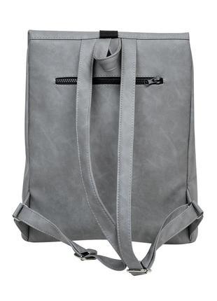 Женская серая сумка для учебы6 фото