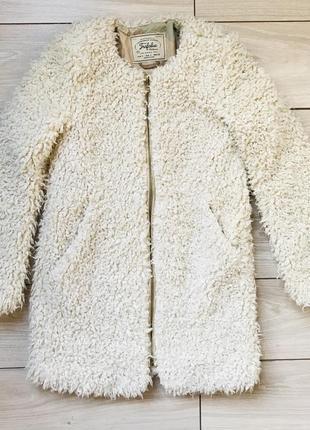Искусственная шуба барашек тедди teddy bear zara размер s
