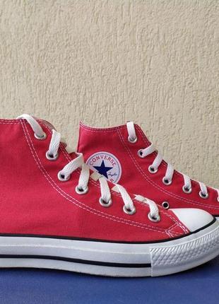 Кеды converse all star hi red