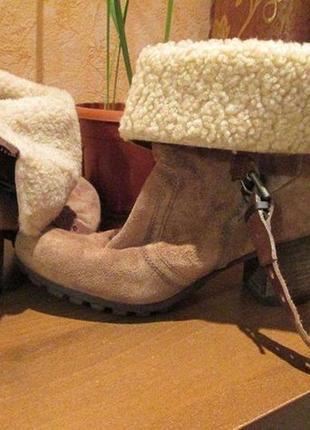 Зимние ботинки/сапоги 100% натуральная замша р. 37