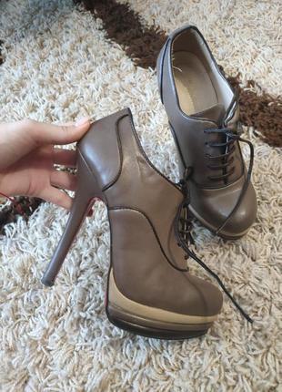 Ботинки ботильены натуральная кожа