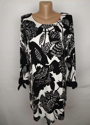 Блуза туника новая эластичное красивая в цветы marks&spencer uk 16/44/xl