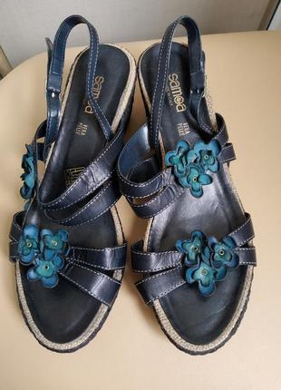 40 p.samoa итальянские кожаные босоножки сандалии от vera pelle