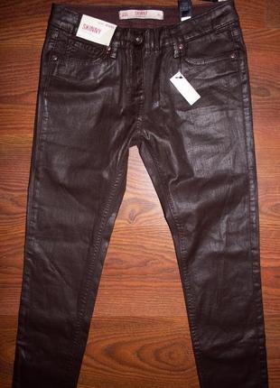 Новые джинсы скини, кожаные штаны, лосины экокожа next 10 long