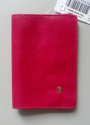 Кожаная обложка на паспорт чехол, натуральная кожа