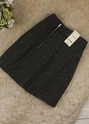 Качественная теплая стильная юбка от peacocks рр 14 наш 48