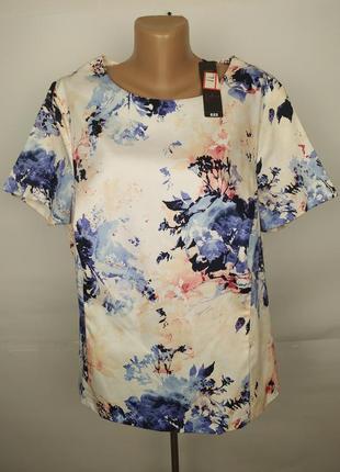 Блуза новая приталенная хлопковая красивенная большого размера tu uk 22/50/4xl