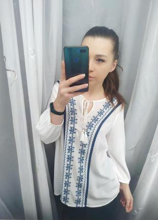 Шикарная вышиванка блузка