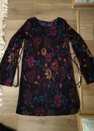 Платье плиссе летнее удивительной расцветки