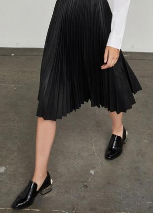 Bcbdg max azria плиссерованая юбка оригинал брендовая дизайнерская черная плиссе