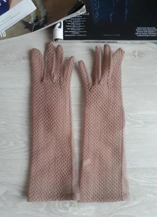 Высокие прозрачные перчатки