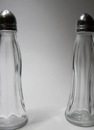 Набор солонка и перечница black&white 110мм стекло+металл