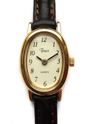 Timex винтажные классические часы из сша кожа сборка philippines