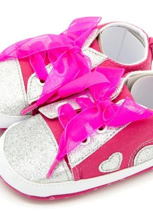 Пінетки-кросівки для дівчинки темно-рожевий розміри: 11 см; 12 см; 13 см;