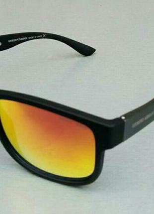 Giorgio armani очки мужские солнцезащитные оранжевые зеркальные