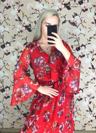 Цветочное платье в пол , красивое платье