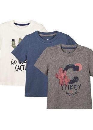 Набор футболок 3шт для мальчика р. 86 92 lupilu германия