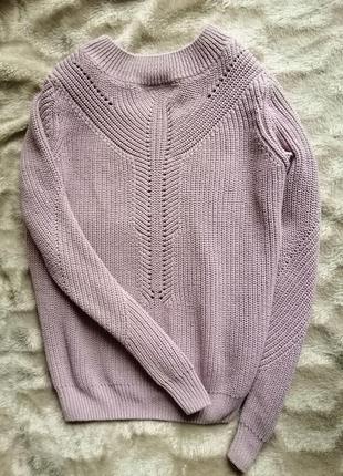 Лиловый свитер вязаный кофта фиолетовый фиалка сирень