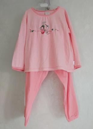 Пижама хлопковая на девочку schiesser разм. 104