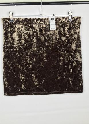 Бархатная юбка сток