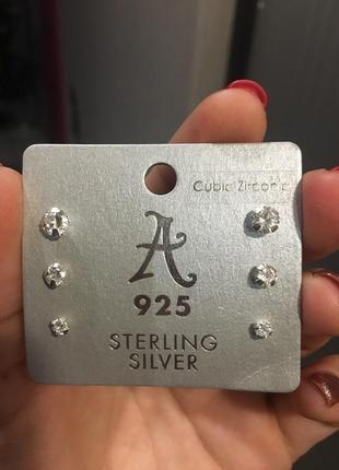 Серьги {пуссеты} accessorize серебро 925 пробы