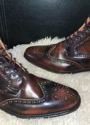 Shoes mod ботинки броги кожа , кожа внутри