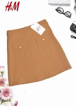 Новая юбка с карманами h&m