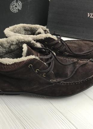 Б/у мужские зимние ботинки из натуральной замши