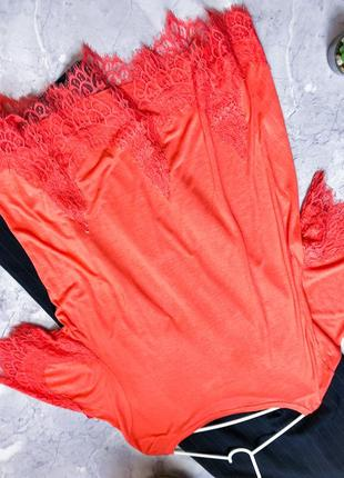 Уценка! модная блуза с кружевом с биркой2 фото
