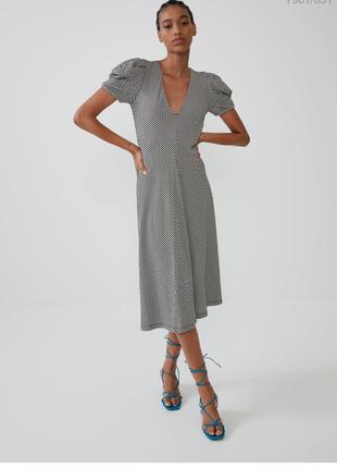 Платье zara сукня розмір м сіре