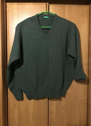 Объёмный свитер/джемпер натуральная шерсть