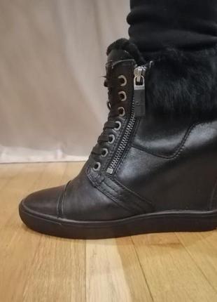 Pierre cardin зимние кожаные ботинки сапожки