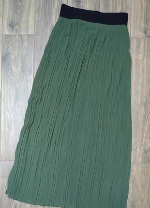 Плиссированная юбка terra di siena
