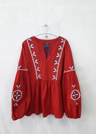 Рубашка блуза с вышивкой, primark, 16-18р