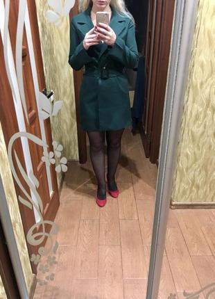 Платье-пиджак изумруд